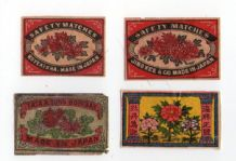 Collectible  match box labels CHINA or JAPAN patriotic #276